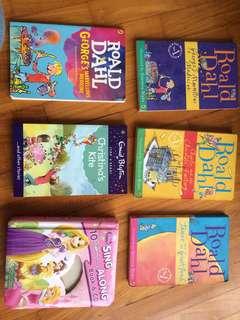 Roald Dahl Enid blyton Disney princess books
