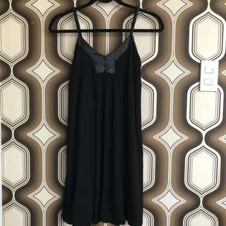 Black Dress with silk braided strap