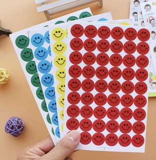 Smiley Stickers 15 mm 56 pieces BN Free Normal Mail