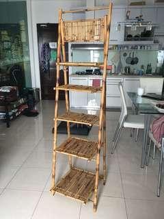 Rak bambu lipat 5 layer