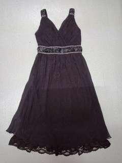 Dark purple dinner dress
