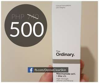 THE ORDINARY Niacinamide 10% + Zinc 1% batch 2