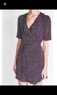 DVF Silk printed wrap dress