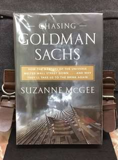 # Highly Recommended《Hardcover New Book Condition + A Surgical Deconstruction Of Wall Street》Suzanne McGee - CHASING GOLDMAN SACHS : How the Masters of the Universe Melted Wall Street Down...and Why They'll Take Us to the Brink Again