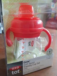 OXO Tot Transitions Soft Spout Sippy Cup with Handles, 6oz 150ml
