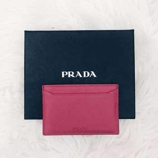 PRADA Authentic Cardholder (Peonia)