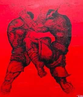 Thai Boxing Painting Set