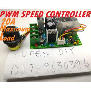PWM 20A Voltage Speed Controller High Power DIY project