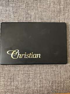 Christian Faye water resistant eyebrow palette with stencil