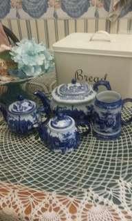 Blue porcelain teapot