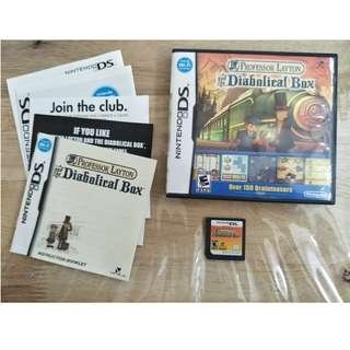 NDS Professor Layton and the Diabolical Box #Complete with DLC Weekly Puzzle#