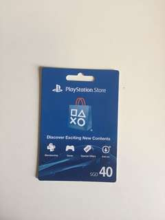 PS4 gift card *NOT ACTIVATED*