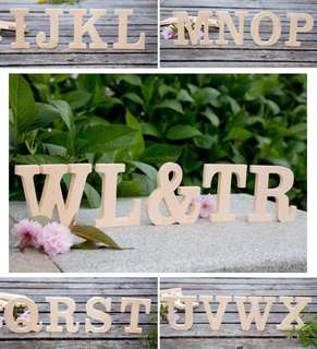 Natural wood alphabet