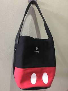 Grace Gift Mickey casual canvas cylinder bag