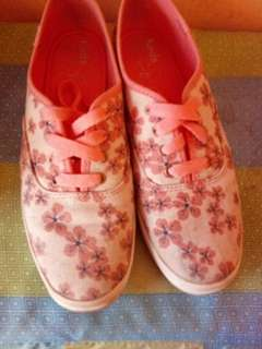 AUTHENTIC KEDS: Pink floral shoes