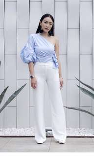 Collate the label wide legged crepe pants xs