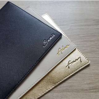 CUSTOM PASSPORT HOLDER saffiano leather