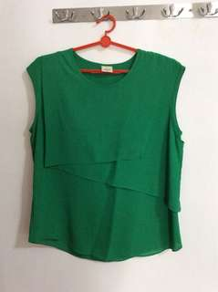Green Top Blouse Bega