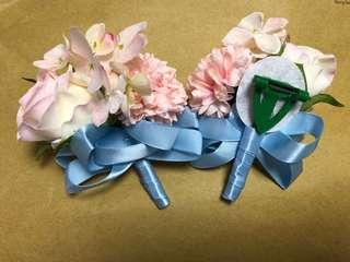 手花和襟花 結婚用 姊妹手花 親友襟花