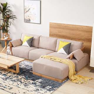 Japanese Fabric 3 seater with Ottoman