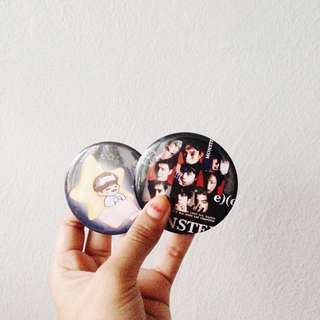 EXO button badge