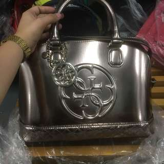 Guess Metallic Rose Gold Bag