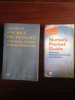 2 for 420 php (Nurse's Pocket Guide & Mosby's Pocket Dictionary)