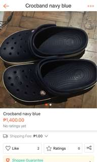 Crocs blue/white/red