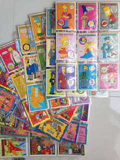 Full Set of 1993 Simpsons Series 1 Base Cards + free card sleeves!