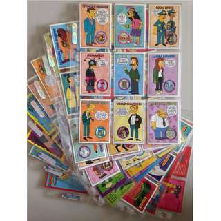 Full Set of 1994 Simpsons Series 2 Base Cards + free card sleeves!