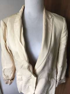 Cream Jacket by Zara