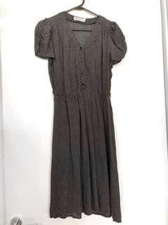 SUNNY GIRL black white vintage style short sleeve dress sz8