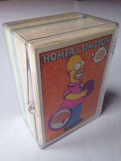 Full Set of 1993 Simpsons Series 1 Base Set (80 cards) + free plastic box!