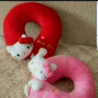 In stock Hello Kitty Neck Rest Cushion Red