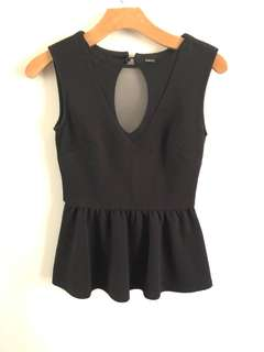 Tokito black Peplum top