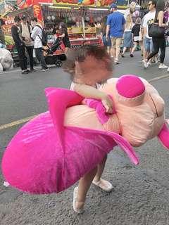 X Large 75cm NEW Pink pig soft plush toy bean bag stuffed