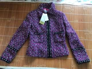 優惠價🈹💥🈹💥 名牌 episode studio 拉鍊外套 高貴 超型 珠飾及亮片 襯興 圖案 Fucshiac jacket 外套褸