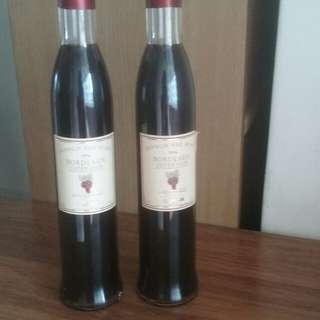 French Red Wine 1996 Bordeaux Superieur Twin Pair by Camus
