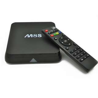 M8S 4K Smart TV Box AP6330 WiFi Quad Core Amlogic S812 Android 4.4 2G RAM 8G ROM HD Media Player - BLACK 1310