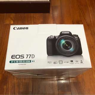 BRAND NEW IN BOX!! Canon EOS77D Kit (EF-S1-135-IS USM)