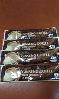 🚚 四合一即溶咖啡(人蔘口味)-單包裝4入