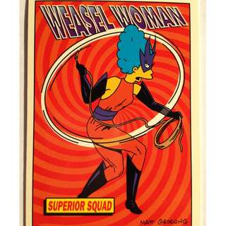1994 Skybox Simpsons Series 2 - Base Card #R9 - Weasel Woman