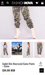 ISO: Cadet Kim Fashion Nova Pants