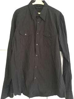 Men Stripes Long Sleeve Shirt Slim Fit