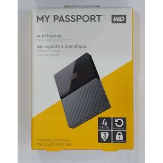 WD EXTERNAL HARD DISK 4TB - BLACK (BRAND NEW IN BOX)