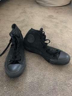Converse black Hightops