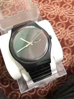 Swatch black watch