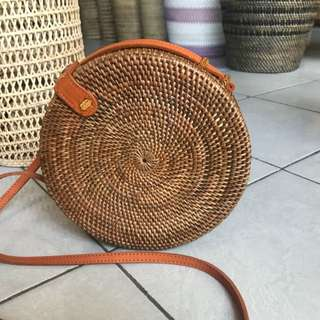 Tas rotan asli bali (size kecil ukuran 25cm)