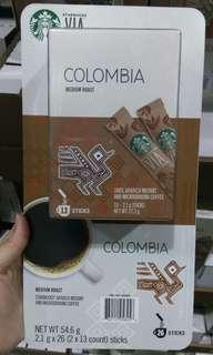 🚚 Costco代購咖啡飲品。Starbucks星巴克 哥倫比亞即溶研磨咖啡 2.1克*26入