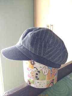 Stripe Hat - Grey